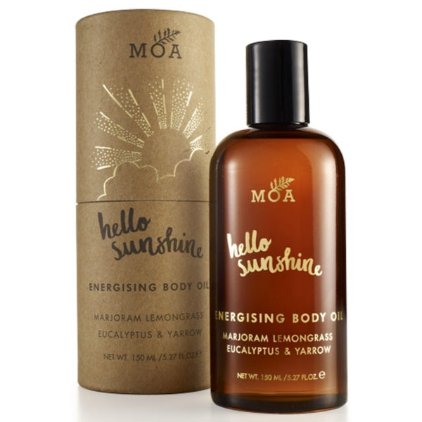 Hello Sunshine Energising Body Oil from MOA ~ majoram, lemongrass, eucalyptus, pine,