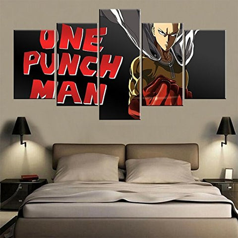 One Punch Man, Canvas Wall Art Framed 5 Panel - Canvart