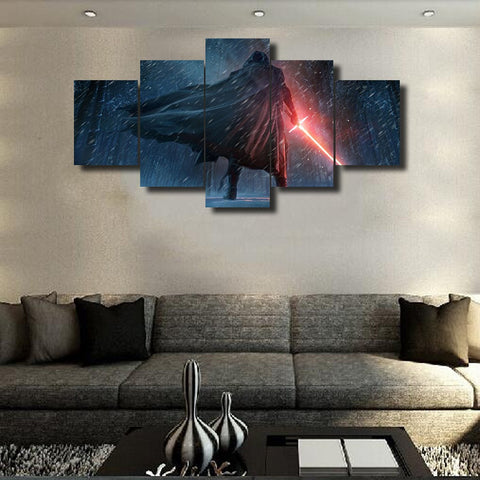 Kylo Ren, 5 Panel Framed Canvas Wall Art - Canvart