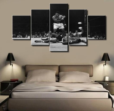 Muhammad Ali, 5 Panel Framed Canvas Wall Art - Canvart