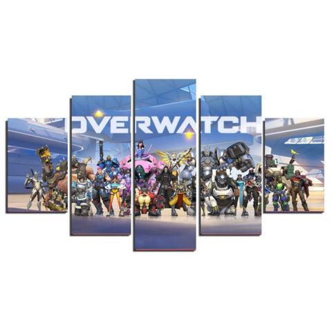 Overwatch, 5 Panel Framed Canvas Wall Art - Canvart