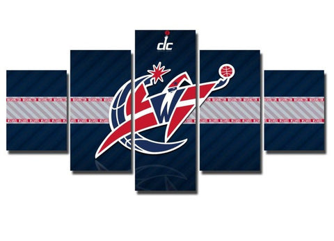 Washington Wizards, 5 Panel Framed Canvas Wall Art - Canvart
