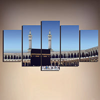Holy Kabbah, 5 Panel Framed Canvas Wall Art Poster Home Decor - Canvart