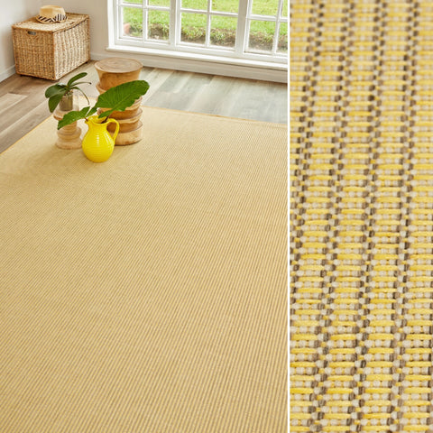 A bright yellow rug? Why not!