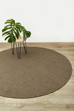 Natural sisal look taupe circle round rug