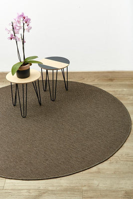 Brown Arrow Round-rugs-Airloom