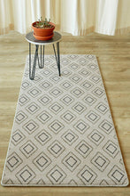 Diamond Beige Runner-rugs-Airloom