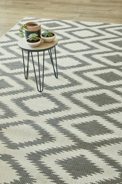 Diamond Grey Rug (new stock)-rugs-Airloom