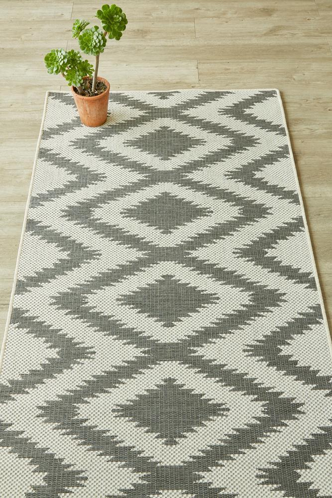 Diamond Grey Runner (new stock)-rugs-Airloom