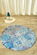 Distressed Damask Circle-rugs-Airloom