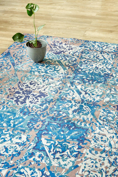 Distressed Damask-rugs-Airloom