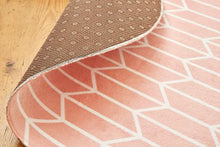 Geo Chevron Blush Round-rugs-Airloom