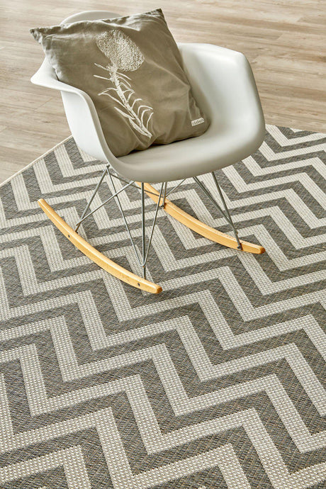 Herringbone Grey Rug (new stock)-rugs-Airloom