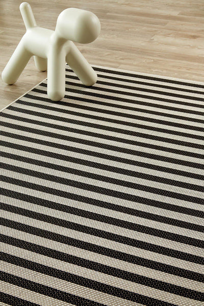 Jailbird Black Rug (new stock)-rugs-Airloom