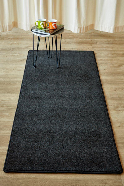Plush Anthracite Runner-rugs-Airloom