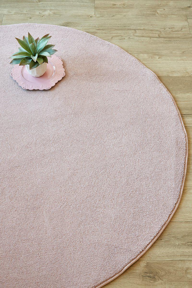 Plush Blush Circle-rugs-Airloom
