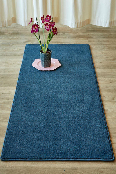 Plush Indigo Runner-rugs-Airloom