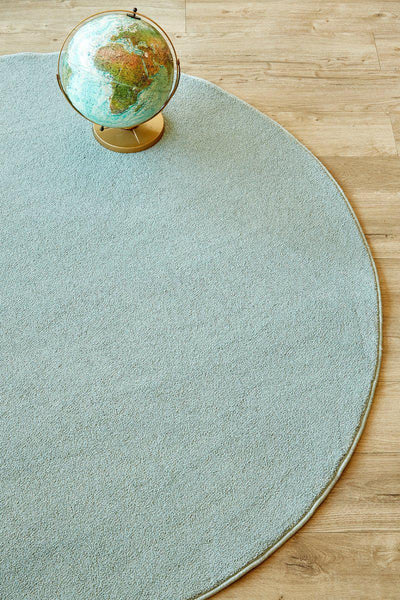 Plush Seafoam Circle-rugs-Airloom