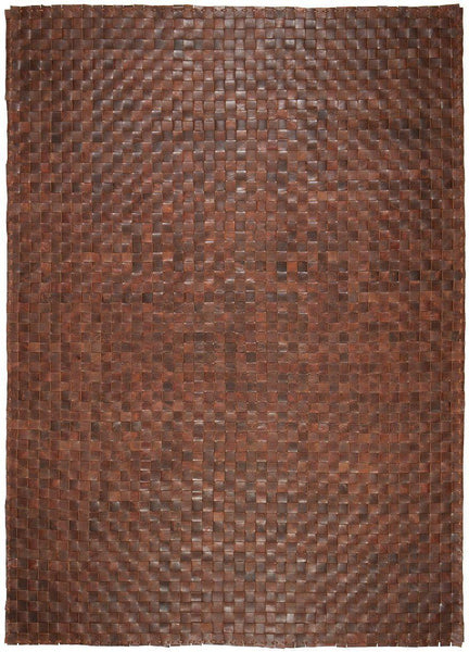 Rock Brown Leather Weave-rugs-Airloom