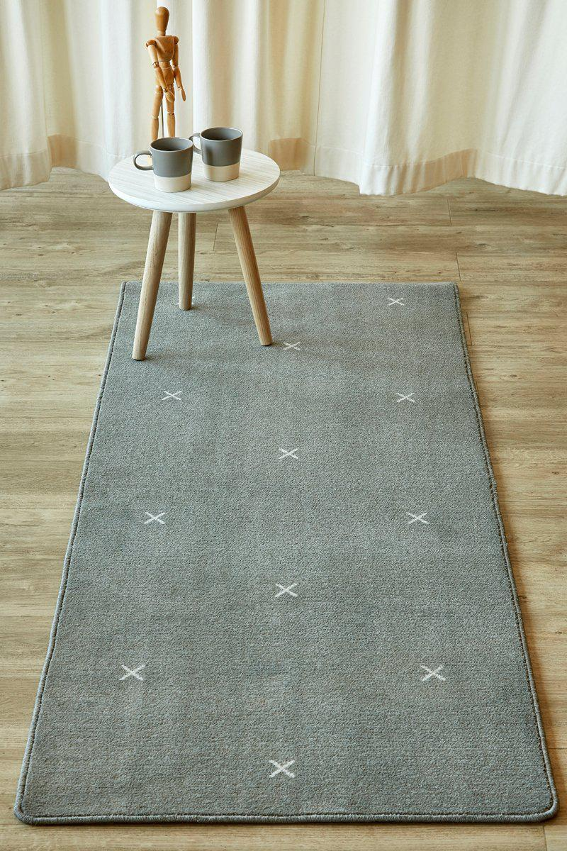 Small Cross Dark Grey Runner-rugs-Airloom