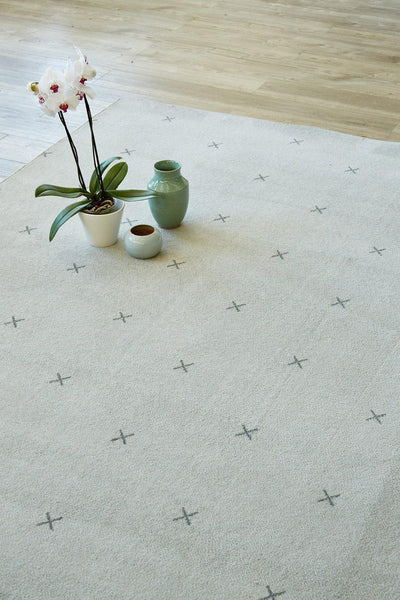 Small Cross Light Grey-rugs-Airloom