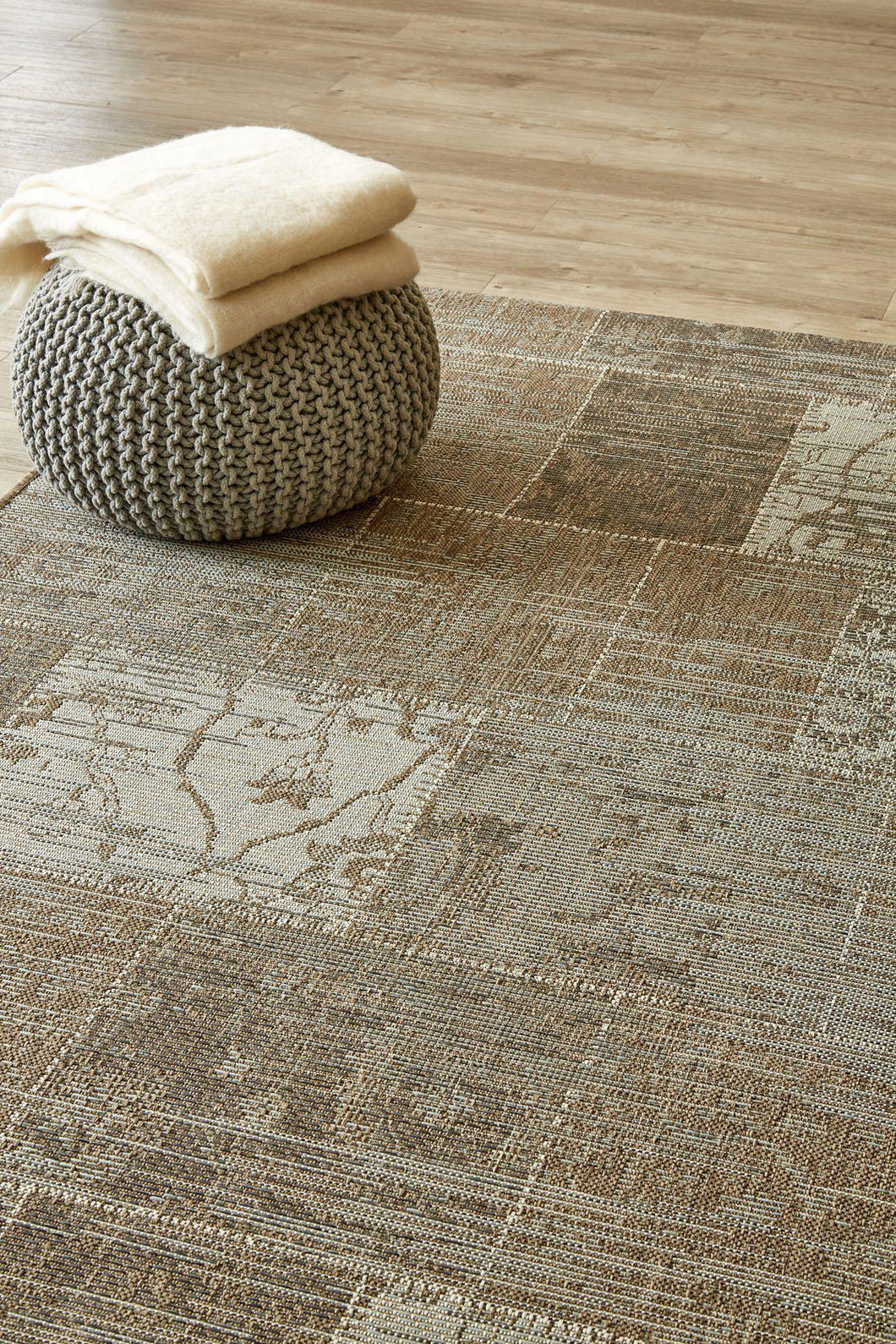 Vintage Patchwork Grey (new stock)-rugs-Airloom