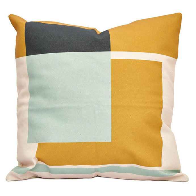 Warm Bauhaus Block Cushion (with inner included)-Decor-Airloom