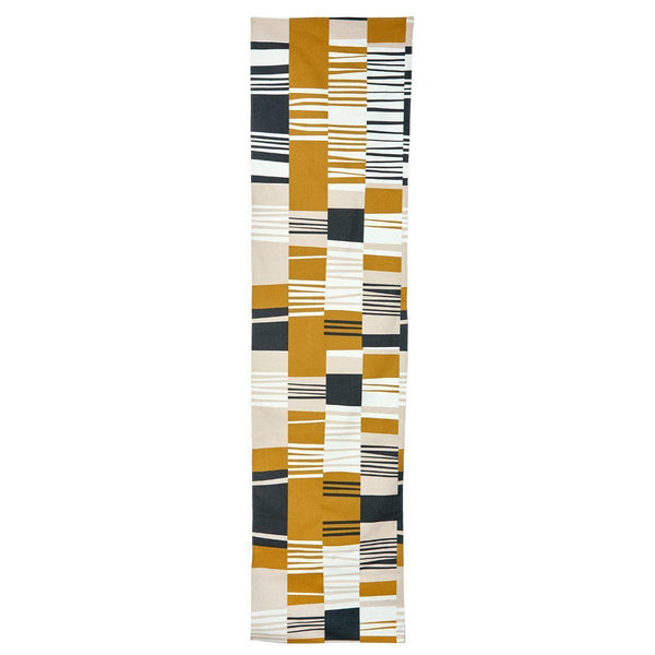 Warm Bauhaus Slant Table Runner-Decor-Airloom