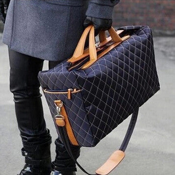 Diamond Patterned Men Travel Bag - luxfellas