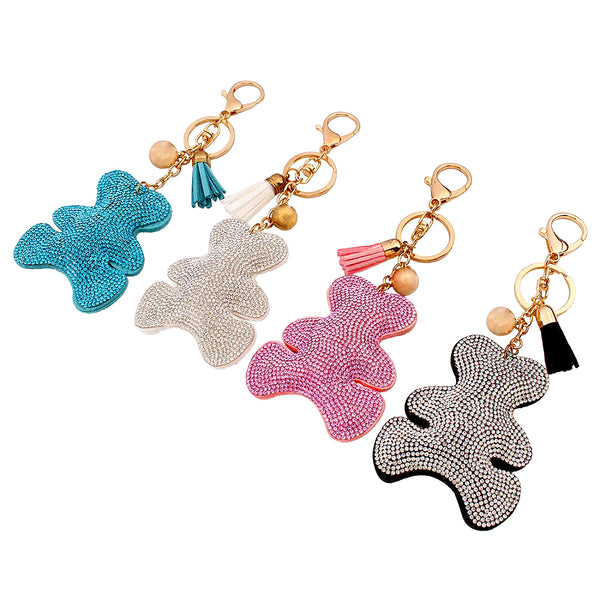 Teddy - Diamond Keychain