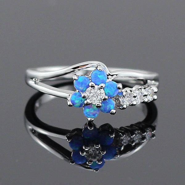 Flower Fire Opal Ring - luxfellas