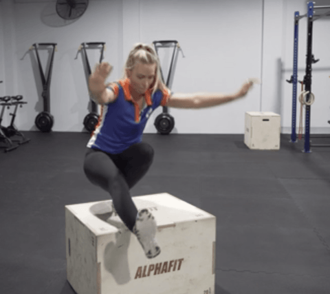 Trainers Challenge - Box Jump to Pistol Squat