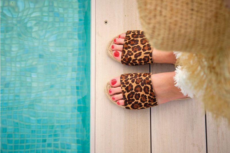 LONDON CITY LEOPARD SANDAL