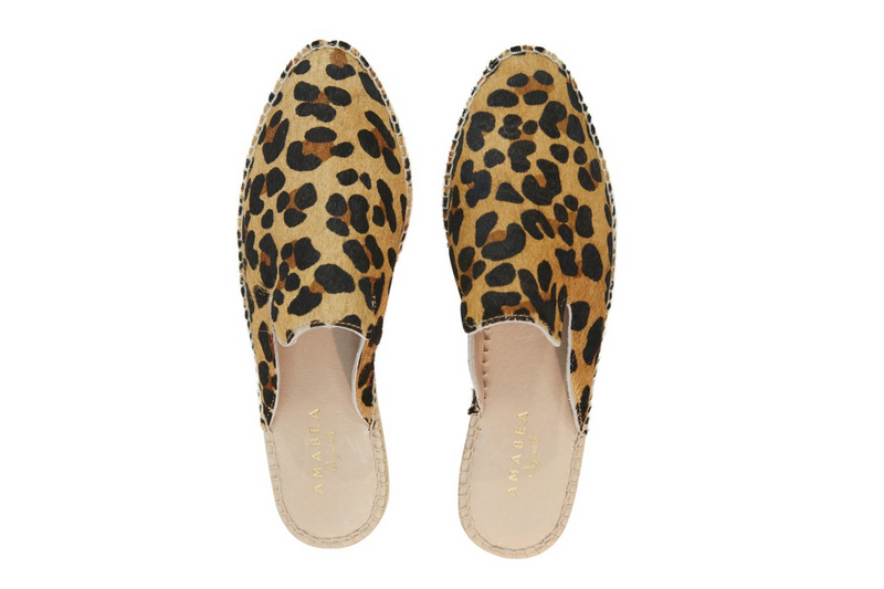 LONDON CITY LEOPARD MULES