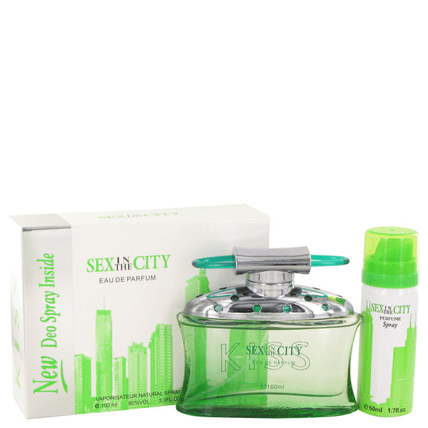 Sex In The City Kiss by Unknown Eau De Parfum Spray + Free 1.7 oz Deodorant Spray 3.4 oz for Women