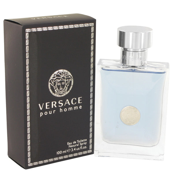 Versace Pour Homme by Versace Eau De Toilette Spray 3.4 oz for Men