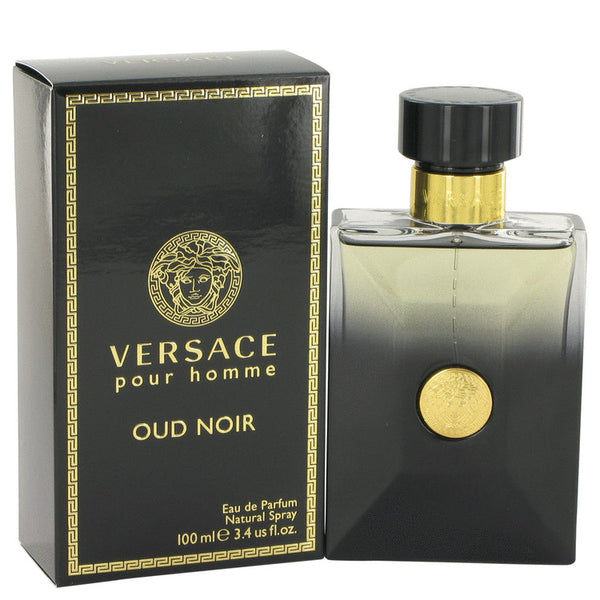 Versace Pour Homme Oud Noir by Versace Eau De Parfum Spray 3.4 oz for Men