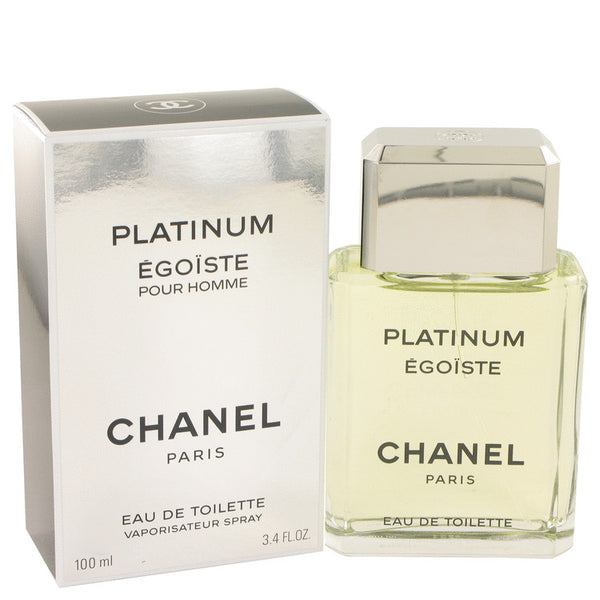 EGOISTE PLATINUM by Chanel Eau De Toilette Spray 3.4 oz for Men