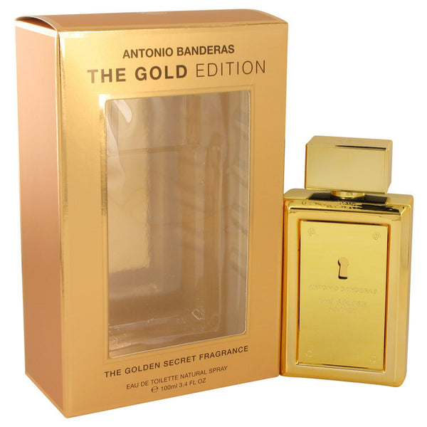 The Golden Secret by Antonio Banderas Eau De Toilette Spray (The Gold Edition) 3.4 oz for Men