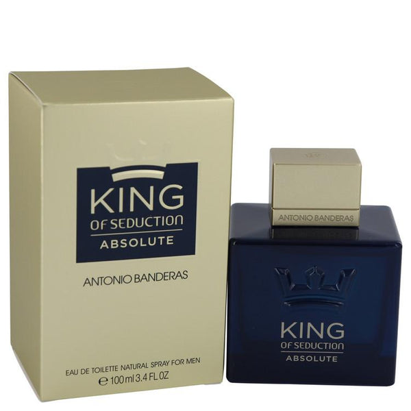King of Seduction Absolute by Antonio Banderas Eau De Toilette Spray 3.4 oz for Men