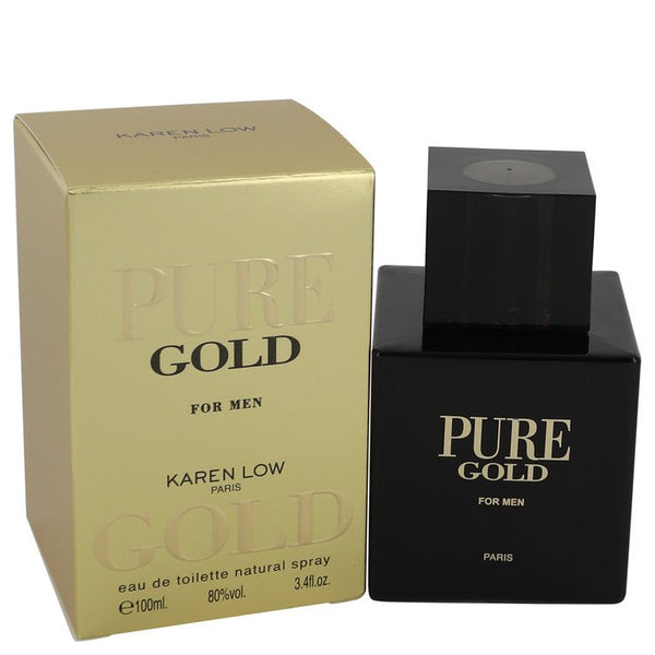 Pure Gold by Karen Low Eau De Toilette Spray 3.4 oz for Men