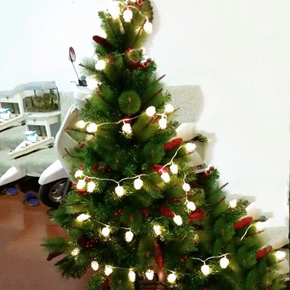 Portable Christmas Lights.Portable Battery Operated Pine Cone Led String Christmas