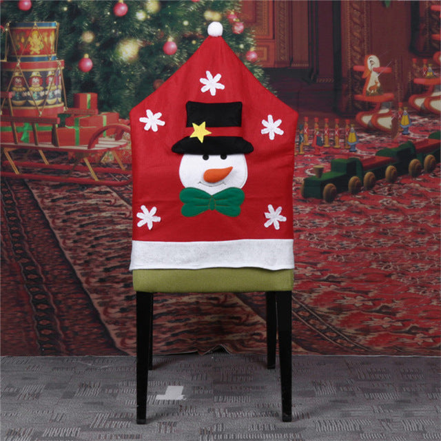 Christmas Chair Back Covers.1pc Mr And Mrs Claus Christmas Chair Back Covers