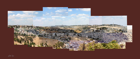 Jerusalem From Armon Hanaziv Boardwalk