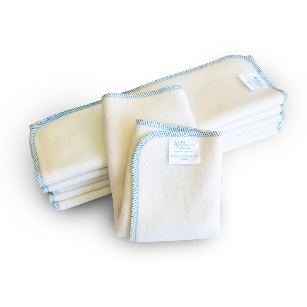 AMP Diapers 2 Layer Hemp Insert