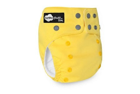 Funky Fluff Bamboo Diaper System - Yellow Submarine