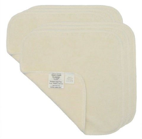 Mother ease Cloth Wipes - Unbleached Cotton