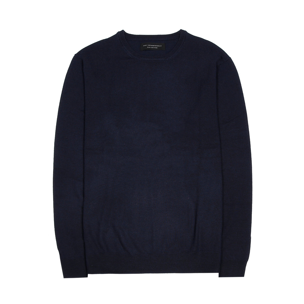 Crew Neck Sweater - Dark Blue