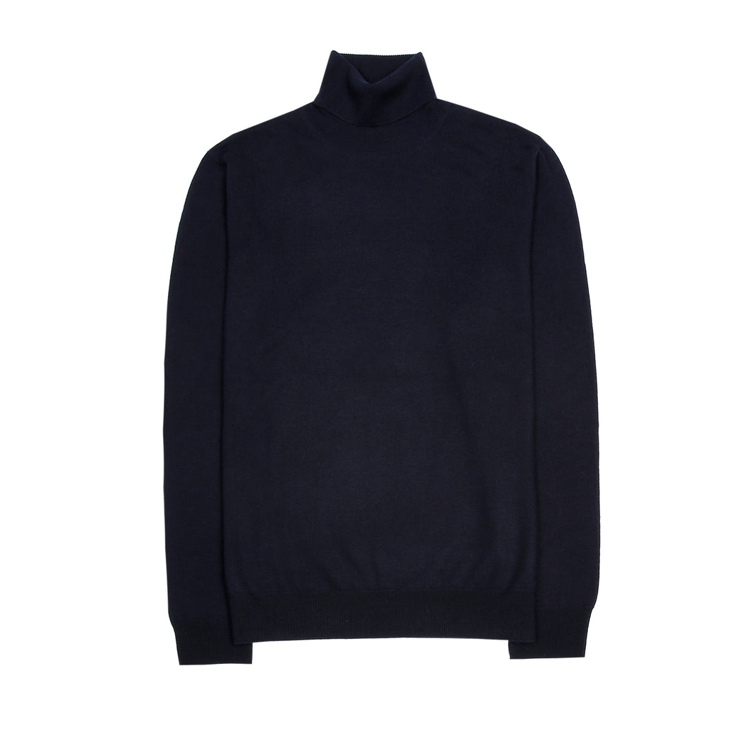 Turtle Neck Sweater - Dark Blue