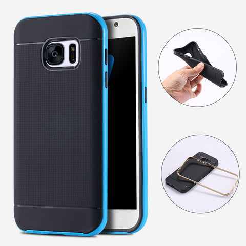 Soft TPU Armor Case For Samsung S7 /S7 Edge Shockproof Dual Hybrid